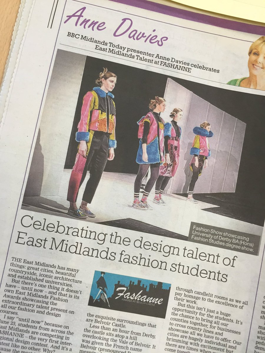 Celebrating design talent. @FashanneAwards @DerbyTelegraph @BelvoirCastle @TalkBeckyTalk @EternalSpirits https://t.co/RK0bpv54Ae