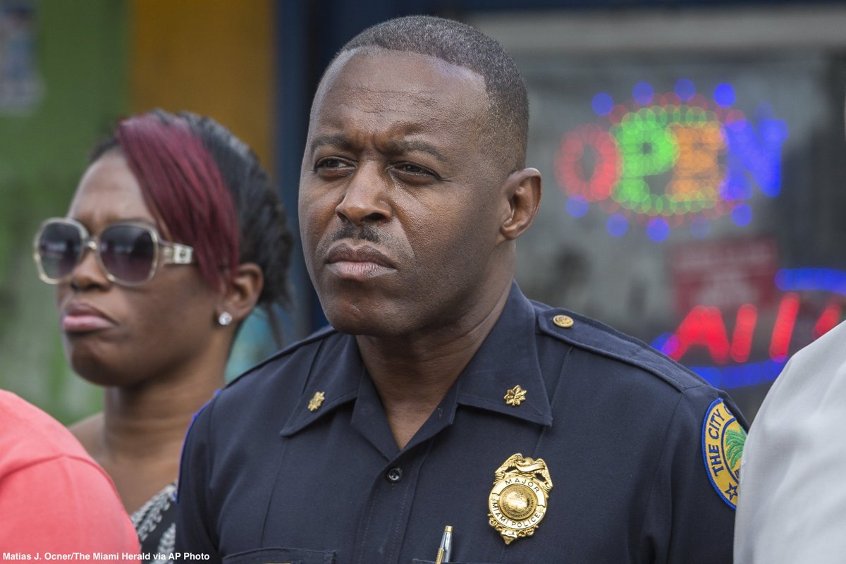Veteran Miami police officer to be sworn in today as first black police chief of Ferguson.
