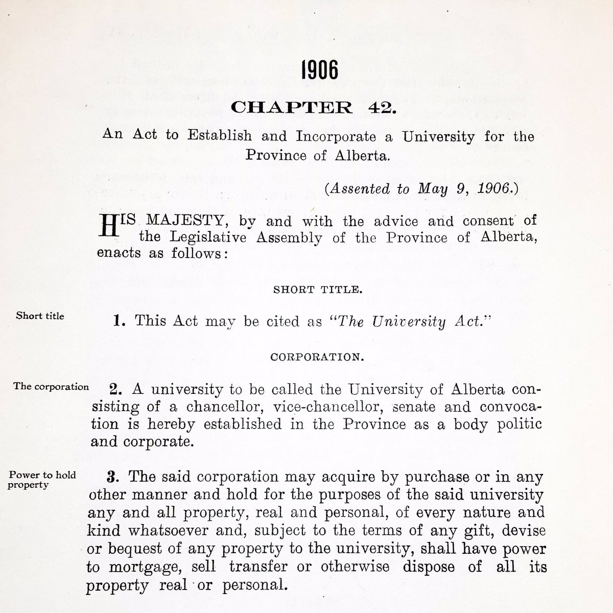 110 years ago today, a university was established for the province of Alberta. Happy birthday, #UAlberta! https://t.co/h6rHOu8EkH