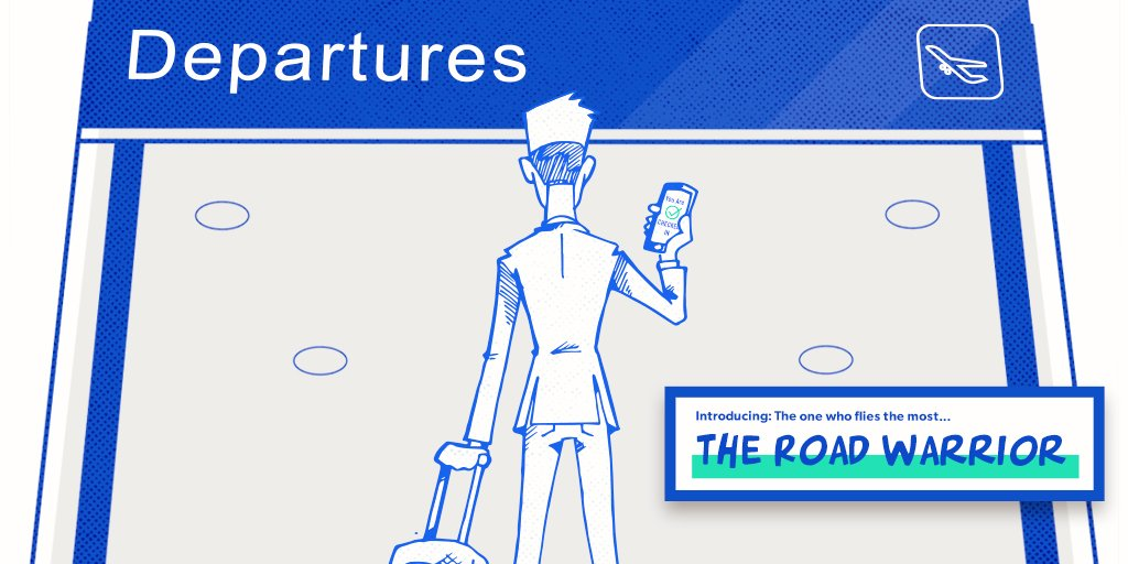 Today's air travelers are more diverse than ever. Here is a typical Road Warrior: