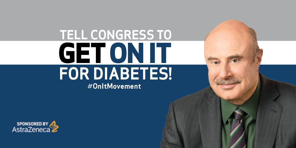 Join AZ, @DrPhil & other advocates to help create change for type 2 #diabetes #OnItMovement https://t.co/pVSaxafFgk