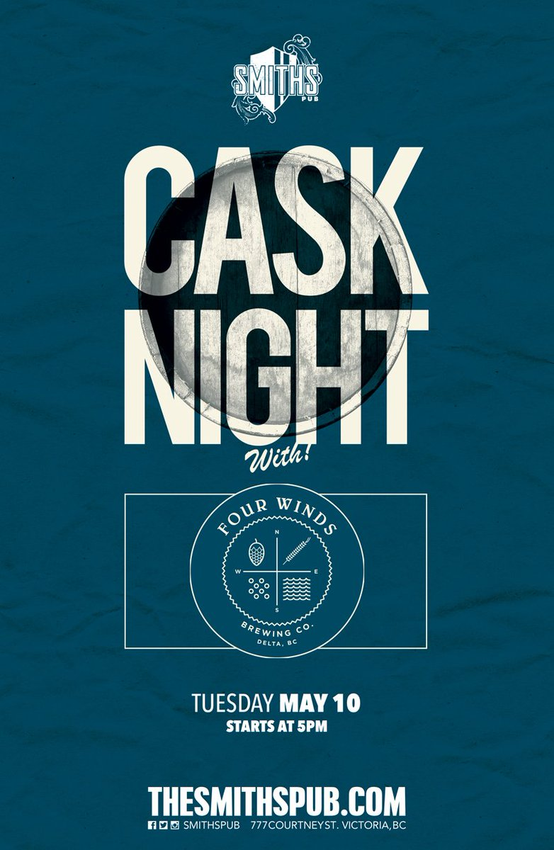 Tuesday May 10, 5 pm @Smithspub Mango-habanero Juxtapose Cask from @FourWindsBrewCo. See you there! #craftbeer https://t.co/4dj4x9J9vP