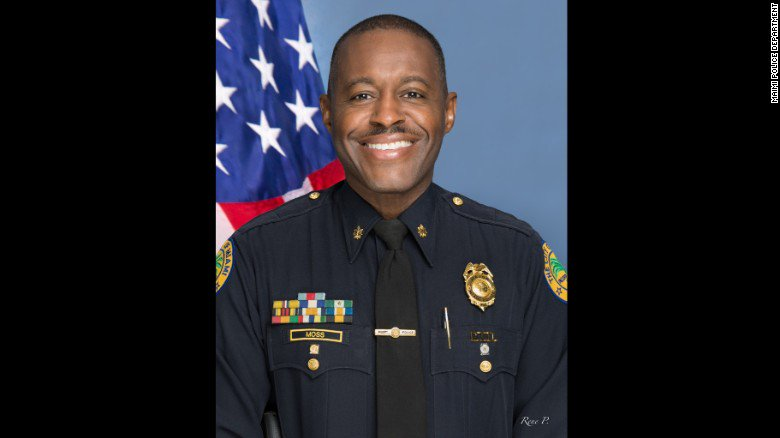 Ferguson, Missouri, swears in Delrish Moss as its first African-American police chief.