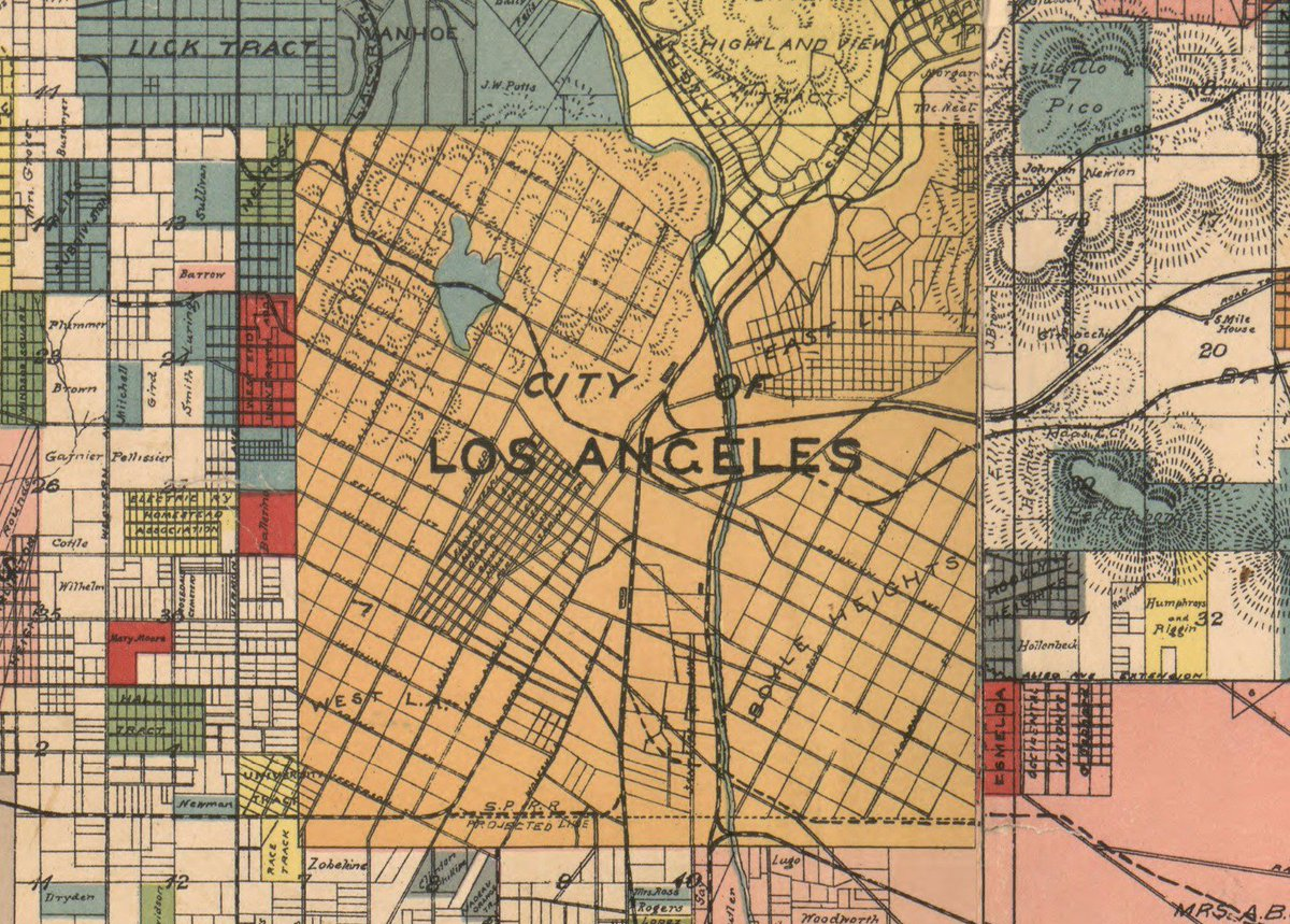 Map of the city of Los Angeles in 1888, before it began expanding its borders. https://t.co/uaRd9f6u9h