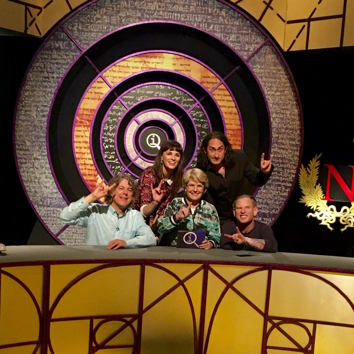 Dear SlipKnot fans, we've taken your leader & removed his mask. @CoreyTaylorRock @realrossnoble @sanditoksvig #Qi https://t.co/OXDM9IOQUx