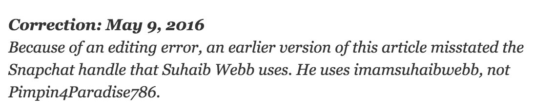 Possibly my favorite Islam-related NYT correction of all time. https://t.co/aQObQpFTfa https://t.co/Oq05uUF65z