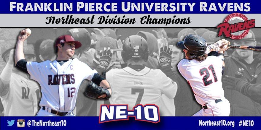 Congratulations to @FPUathletics, 2016 #NE10 Baseball Northeast Division Champions https://t.co/ubUsrxfImJ