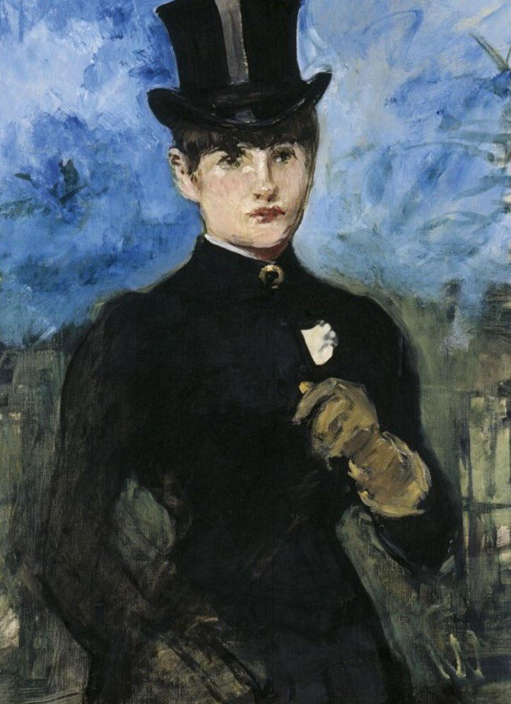 Beautiful painting. The Horsewoman by Edouard Manet 1882 @museothyssen in Madrid https://t.co/Id1ArCc5tD