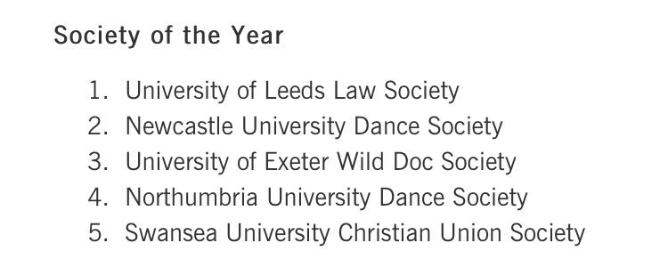 INCREDIBLE!!!!! @Swansea_CU shortlisted for @nusuk Society of the year!!!!!!!!!! #CUnews #expectant https://t.co/EfRQ2q5Y4L
