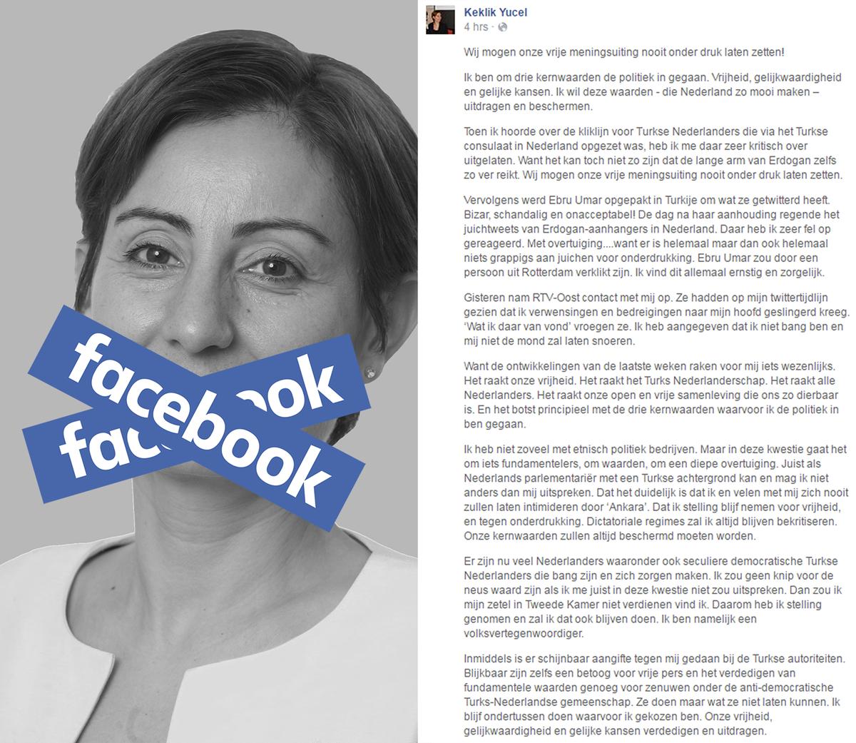 Op #Facebook schreef @keklikyucel over het belang van #vvmu. Nu is haar profiel verdwenen:  https://t.co/Sf6pz1CxYV https://t.co/FP5Ci7vBqO