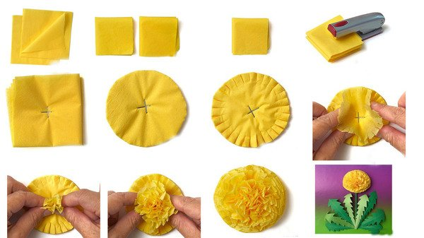 Как сделать любой цветок из салфетки