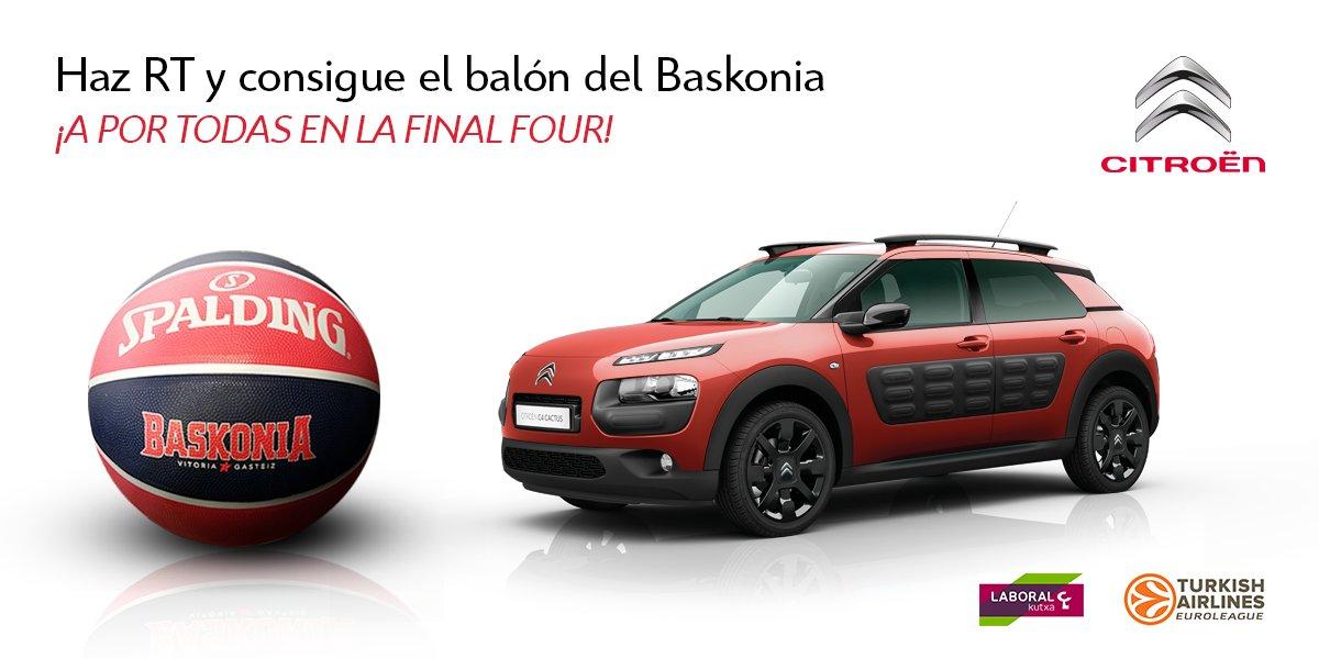 Aúpa @baskonia, a por la Final Four! Haz RT y consigue el balón oficial del equipo #basket