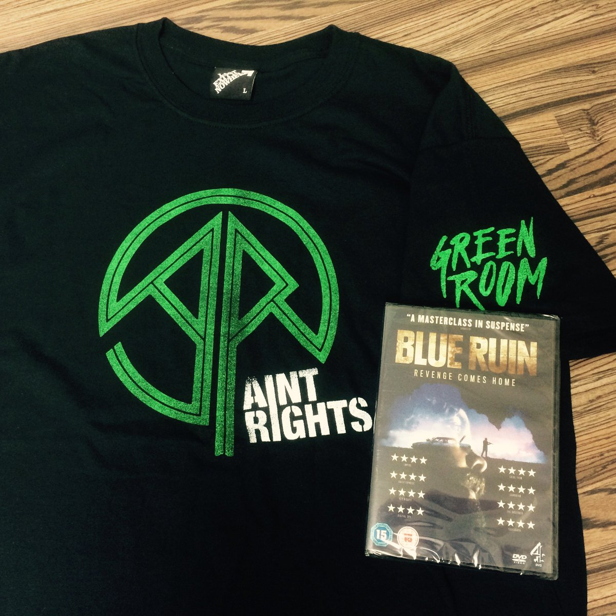 Want an Ain't Rights T from @LASTEXITshirts & #BlueRuin on DVD? RT to win! #GreenRoom https://t.co/KwD2CFAcu2