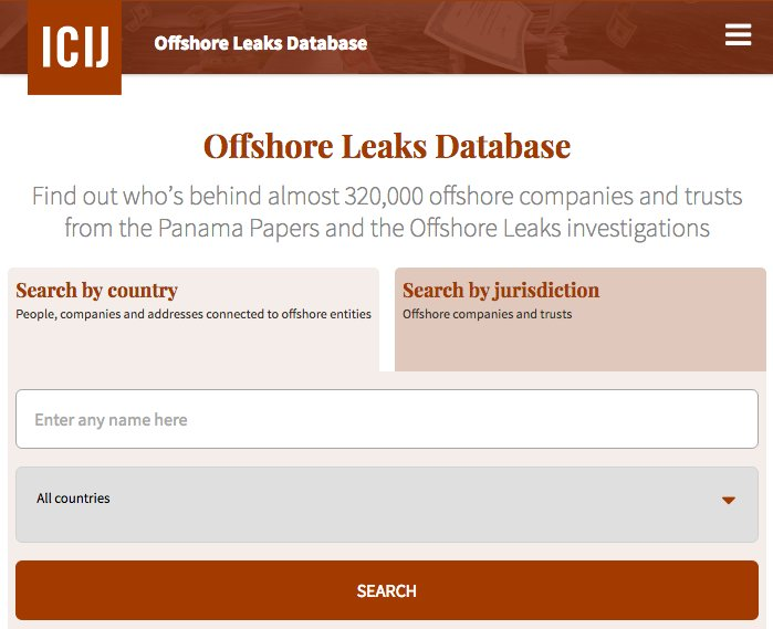.@OCCRP has released the #PanamaPapers database. Explore the offshore leak for yourself: https://t.co/k1Eq20LhUi https://t.co/63KjbOduYP