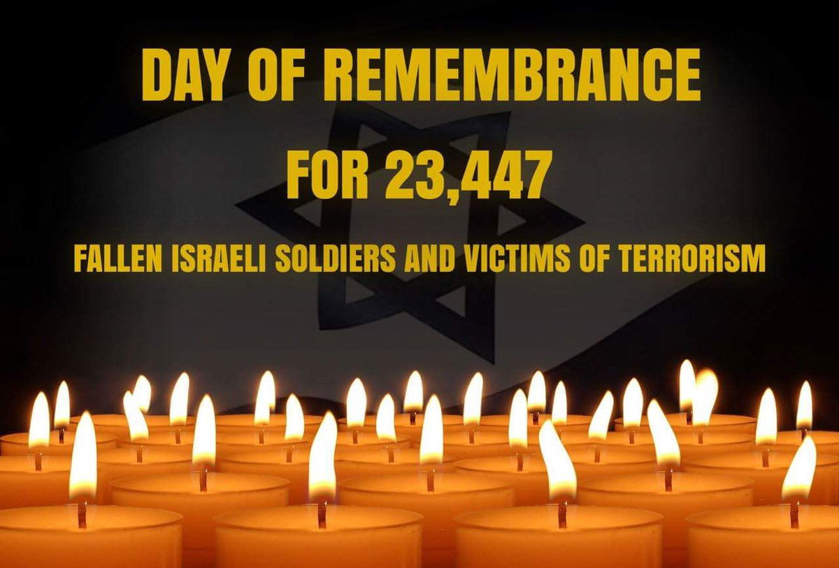 On this #YomHazikaron we remember the 23,447 Israelis who were killed & stand shoulder-to-shoulder w/ their families https://t.co/2QBKBh5TI8