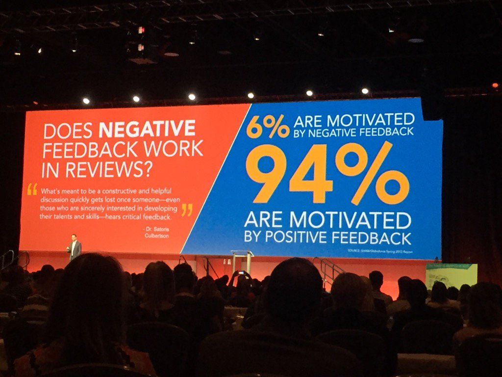 The impacts of positive vs negative feedback -#WorkHuman https://t.co/J01tvswBrO