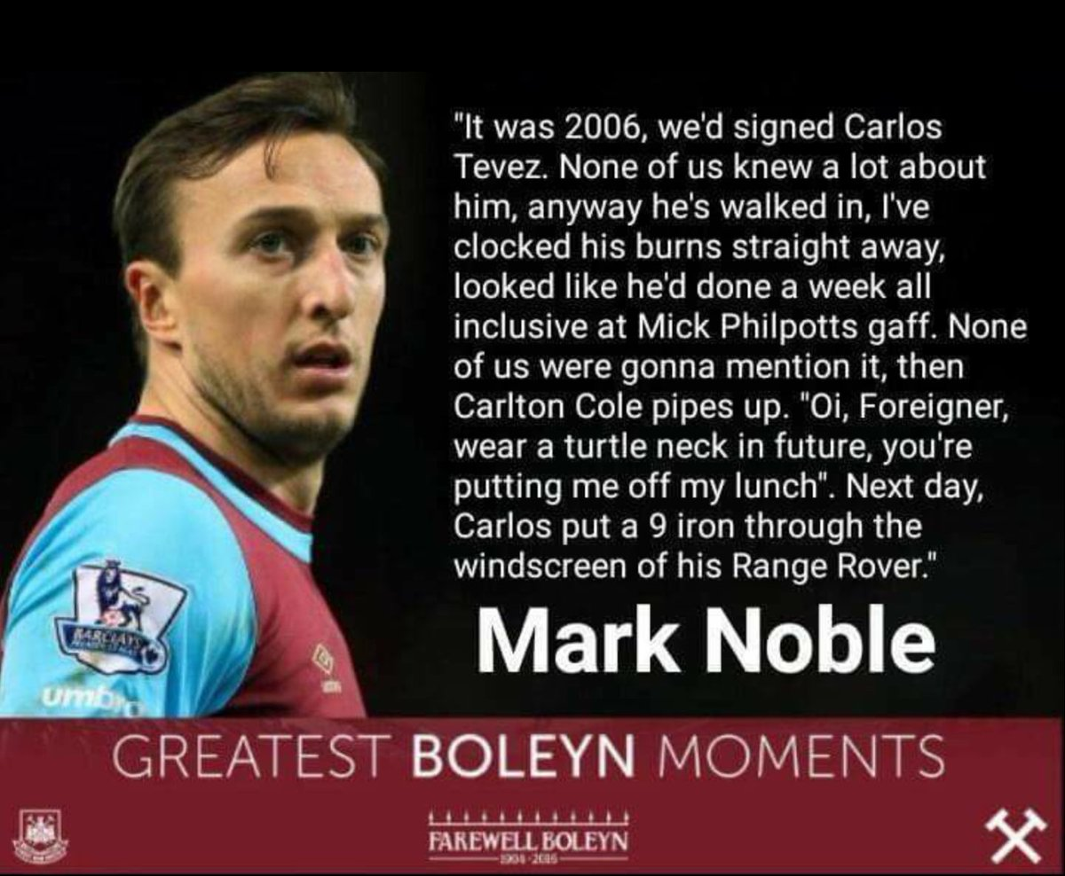 As West Ham stories go this one is