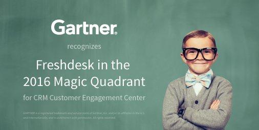 Excited to share! @Gartner_inc added @Freshdesk to 2016 Magic Quadrant for CRM Customer Engagement Center #custserv https://t.co/xFgmCL2kbA