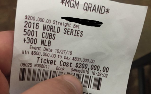 Chicago man bets life savings on Cubs to win the World Series https://t.co/Pi71Ow46Ef https://t.co/G8sYNSAc1B