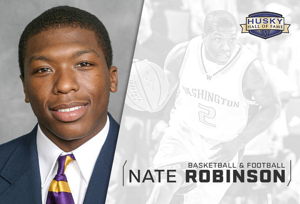 Congratulations to Nate Robinson who will be inducted into the Husky Hall of Fame.  Read: https://t.co/9FFLWUDEaQ https://t.co/wdA50d92RF