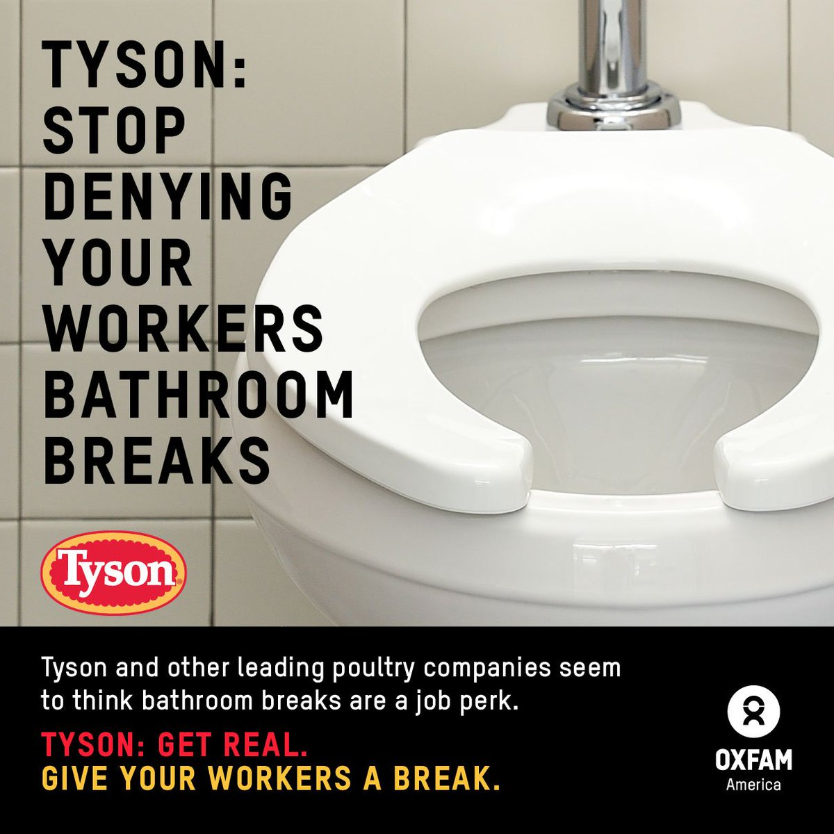 .@TysonFoods: let your workers take bathroom breaks when they need to! #GiveThemABreak https://t.co/UmStGVQA0S
