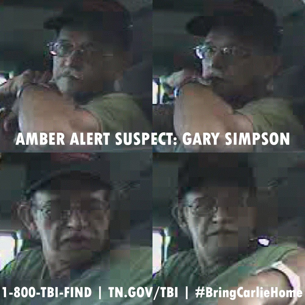 NEW PICTURES: He often wears a hat, so we want you to see these new images of Gary Simpson. #BringCarlieHome https://t.co/HgZQ0xnpUC