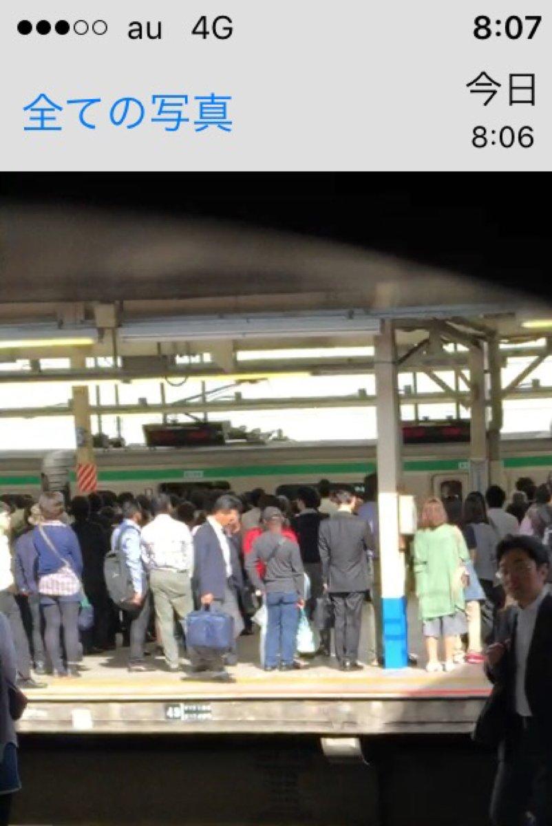 分かりにくいけどドア開いたまま横浜駅に滑り込んできた湘南新宿ライン https://t.co/S16X10VhV5