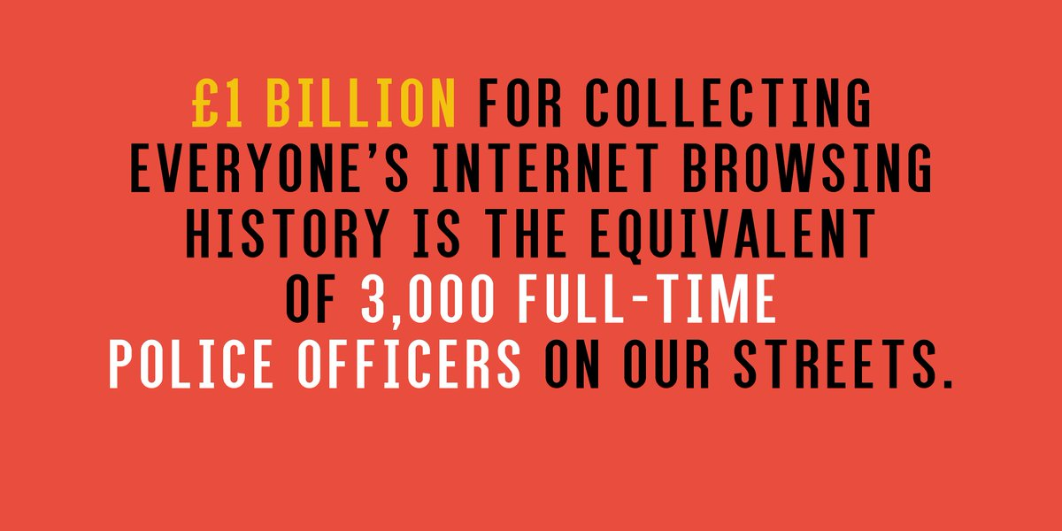 If you don't want the Govt to spend £1billion collecting our browsing history, take action: https://t.co/tcmfyAVPET https://t.co/dyK6V03x4M