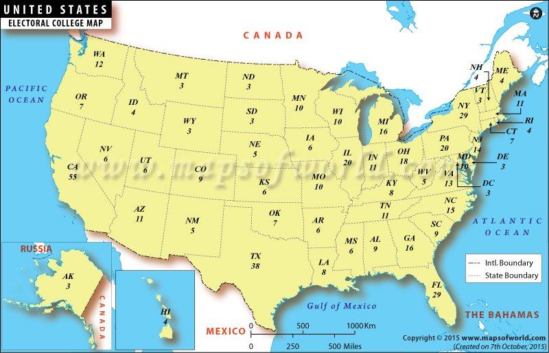 US #electoralcollege Map - https://t.co/KaT8L0asBd https://t.co/4cbTutJVs9