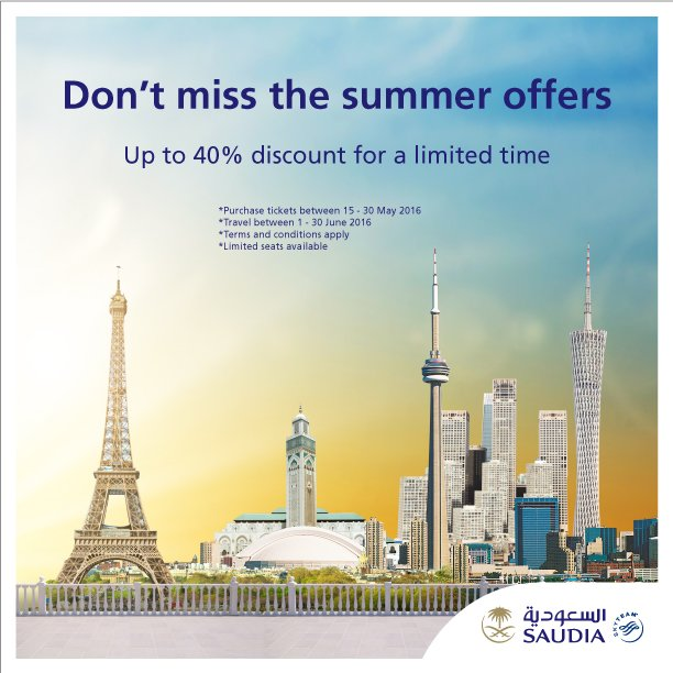 Don't miss the summer offers Up to 40% discount for a limited time  Book