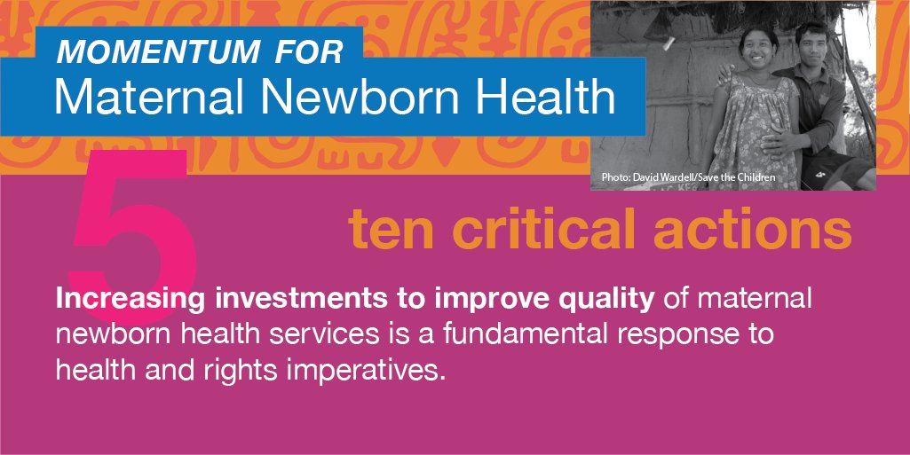 Investing in the quality of maternal newborn health services is a response to health & rights imperatives #WD2016 https://t.co/SAahirI8Pl