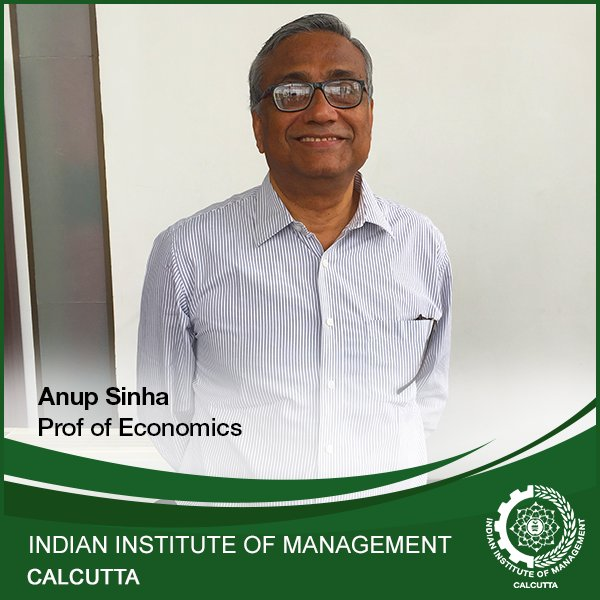 For Prof. Anup Sinha states 'sustainable development requires a changed concept of the 'good life'. #IIMCalcutta https://t.co/DeTACiI0p1