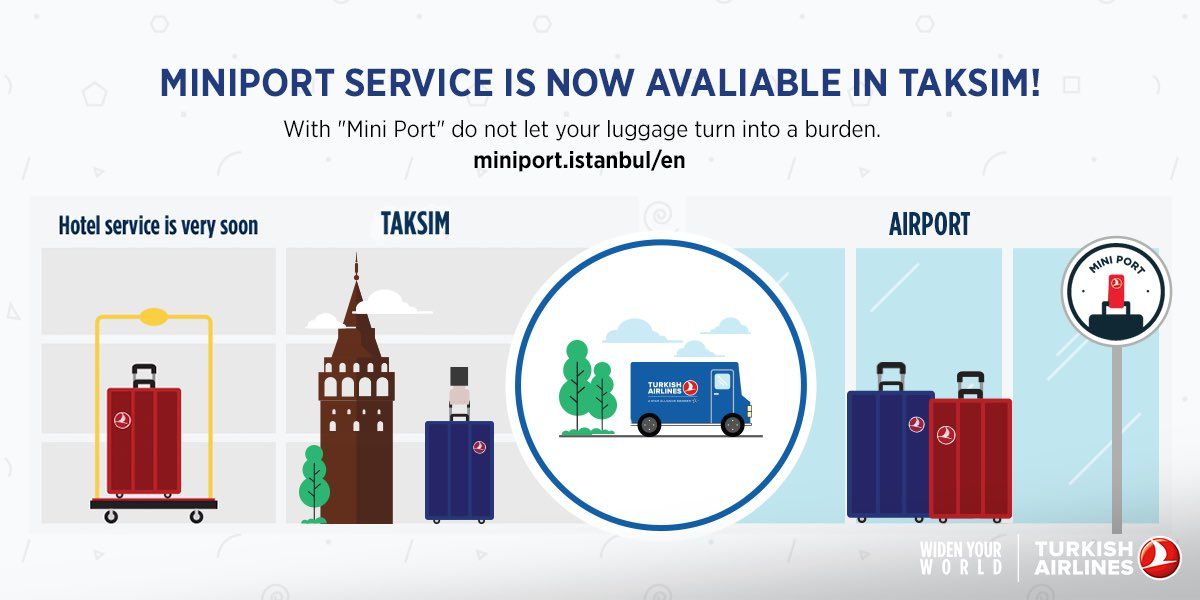 With MiniPort leave your luggage in Taksim office and enjoy ​I​stanbul freely!​