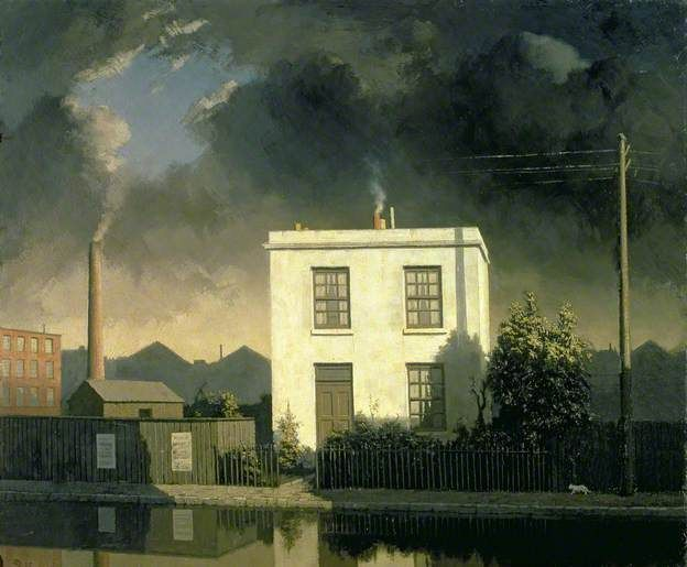 The House by the Canal by Algernon Cecil Newton 1945? (Private Collection) #Stillness https://t.co/Oo72Cc1Sgg