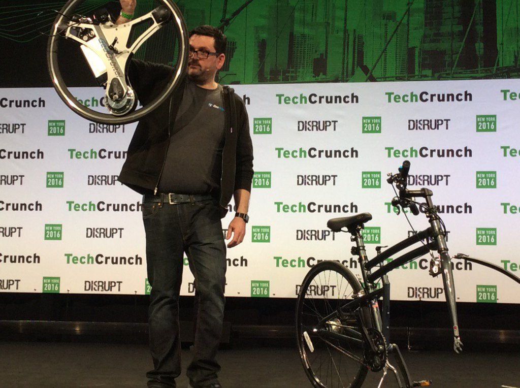 Electric bike wheel, very cool! #GoOrbital #TCDisrupt https://t.co/PaGtTumPyp