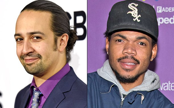 .@Lin_Manuel and @chancetherapper say Barack Obama should drop a mixtape: 🙌