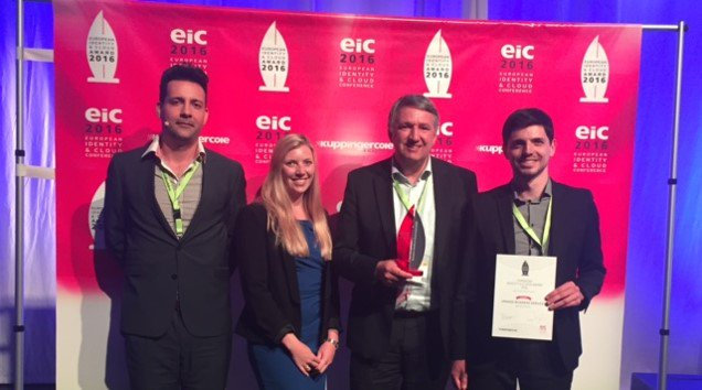 Very proud 2 B recognized w @orangebusiness for Best Cloud Security Project at @kuppingercole @eic_conference #EIC16 https://t.co/FDNtknJWUe