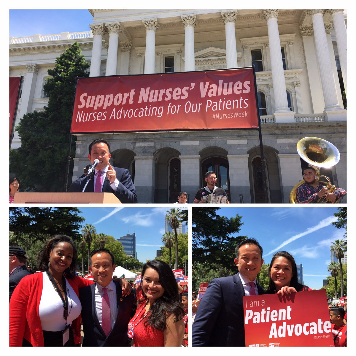 @CalNurses @NationalNurses out in full force for more transparency when it comes to ℞ drug pricing! #NursesWeek https://t.co/xCOl8WO3ly