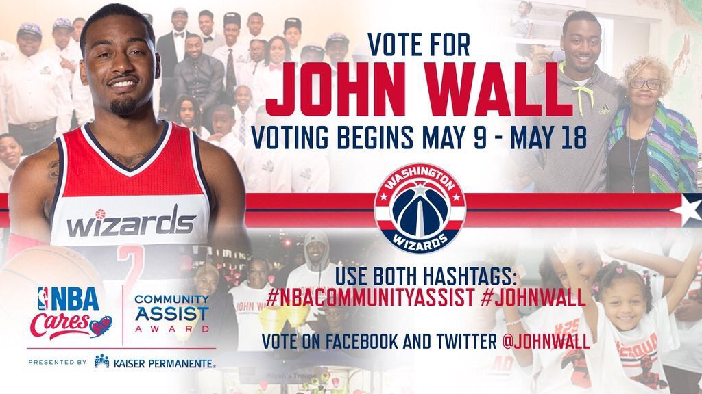 Help vote @JohnWall for #NBACommunityAssist, RT to VOTE! #philanthropy #communityleader #wallway https://t.co/SfwbKhqeig