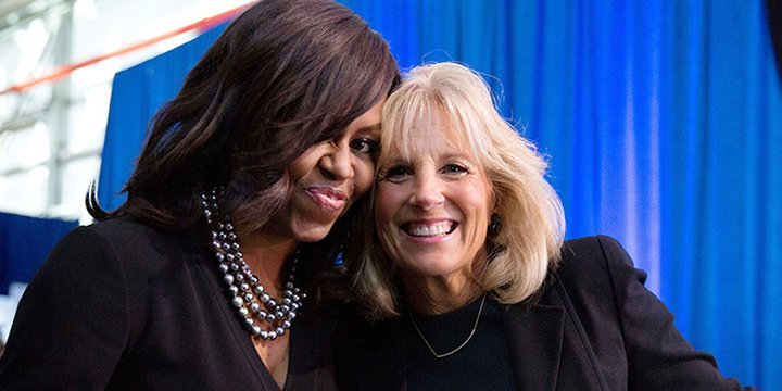 Michelle Obama and Jill Biden interview each other!