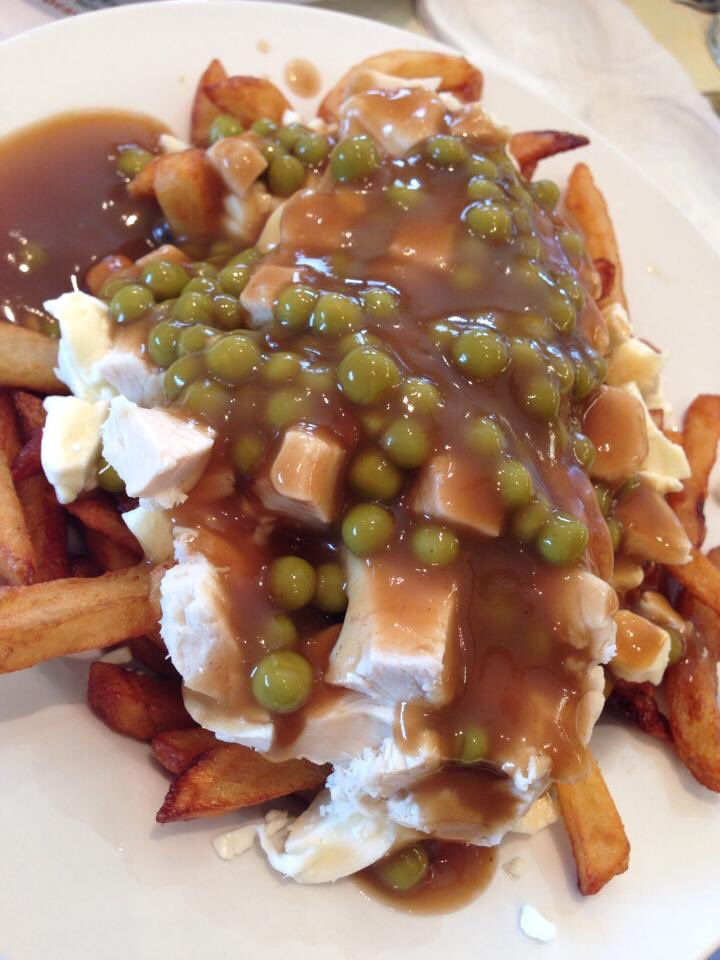 A3 I'm biased being a Quebecoise but a galvaude (poutine w/ chicken & peas) in Montreal is yummy #foodtravelchat https://t.co/8bUZkdOPna