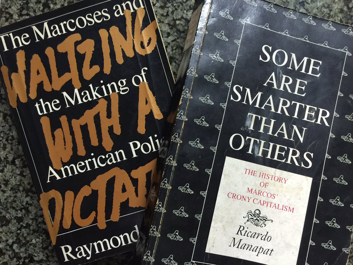 Two of the many books that document the corruption and abuse of the Marcos years. #RPNonFiction https://t.co/6SCBkYC5Rf