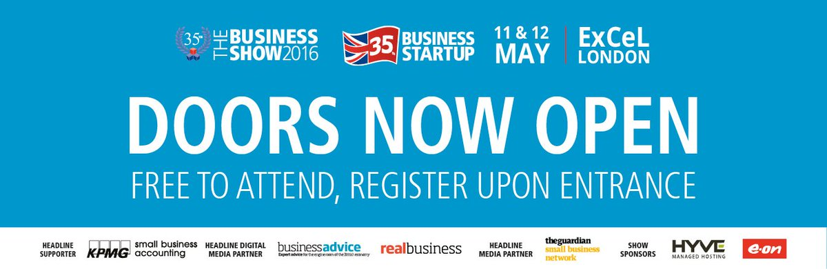 At 10 am today we open again for another busy day of #TBS2016 Tickets are available on the day at @ExCeLLondon https://t.co/6ML8xRr2Rz