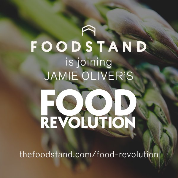 Big thanks to @thefoodstand for joining the #foodrevolution & promoting a healthier food system. US gang check them https://t.co/wbVgw2SyRp