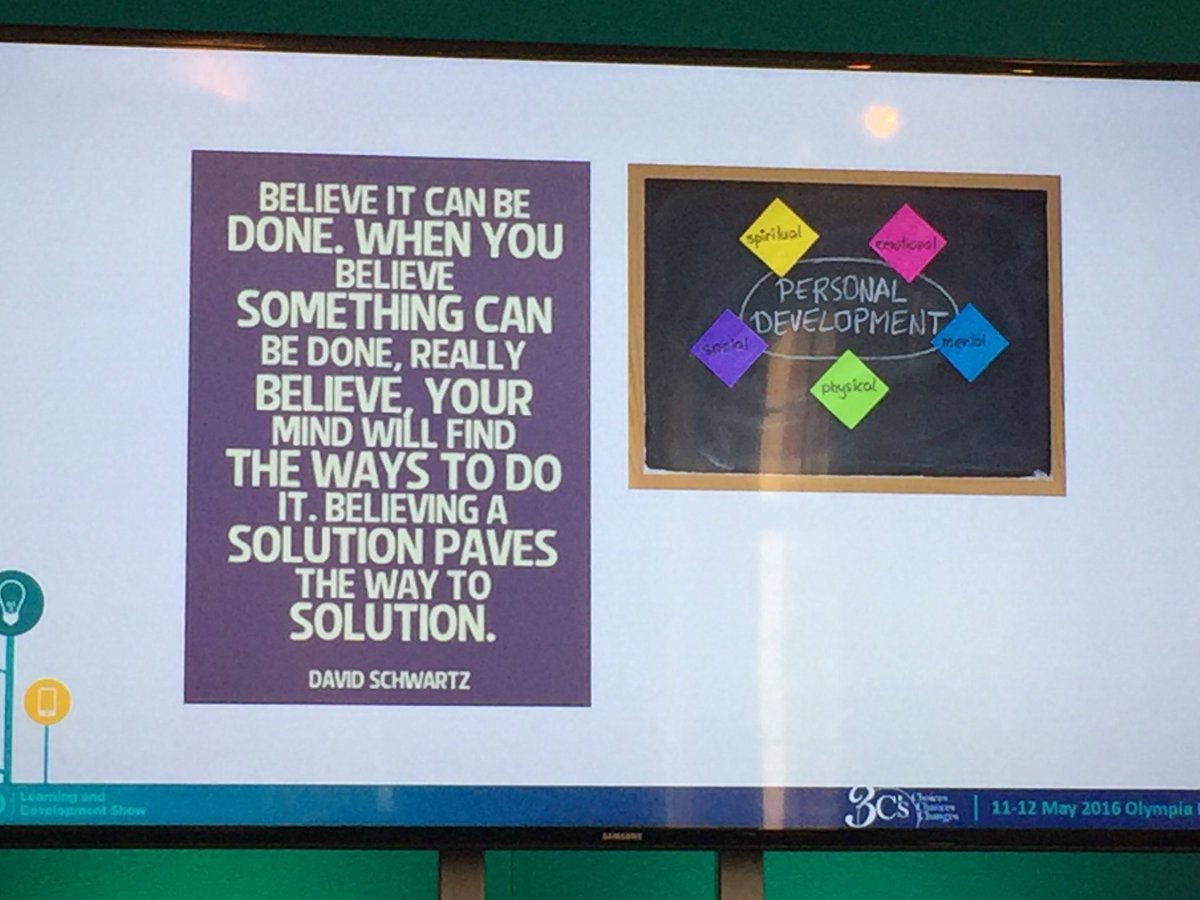 L and D needs belief says @pmorganwales #cipdldshow https://t.co/4LpTn2k8by