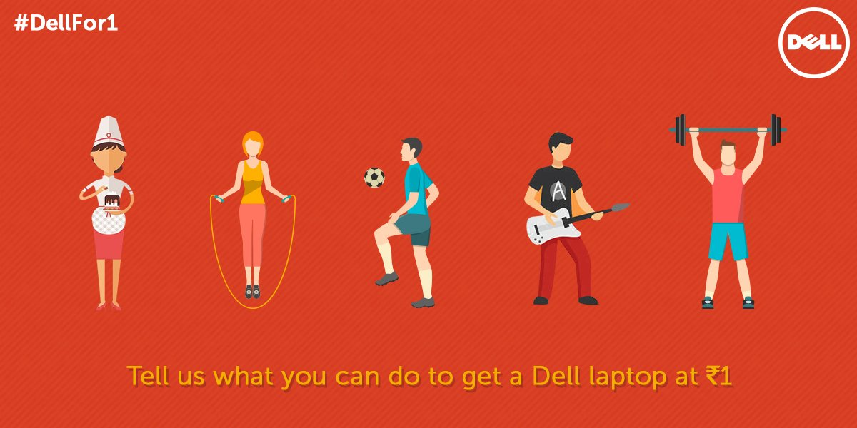 The #DellFor1 contest is now live! Tell us what you can do to get a Dell laptop at just Re.1 & win exciting goodies. https://t.co/eYRDT5pCEC
