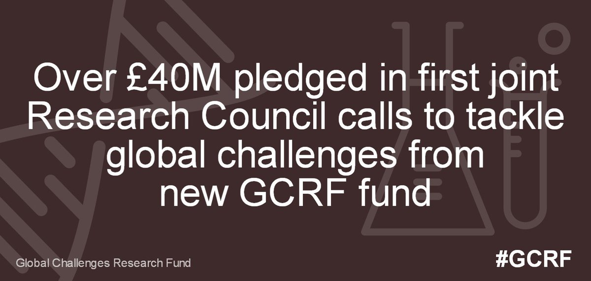 £40M pledged in first Research Council calls to tackle global challenges from new #GCRF fund https://t.co/kOkZ5TORt6 https://t.co/COGoft30bs