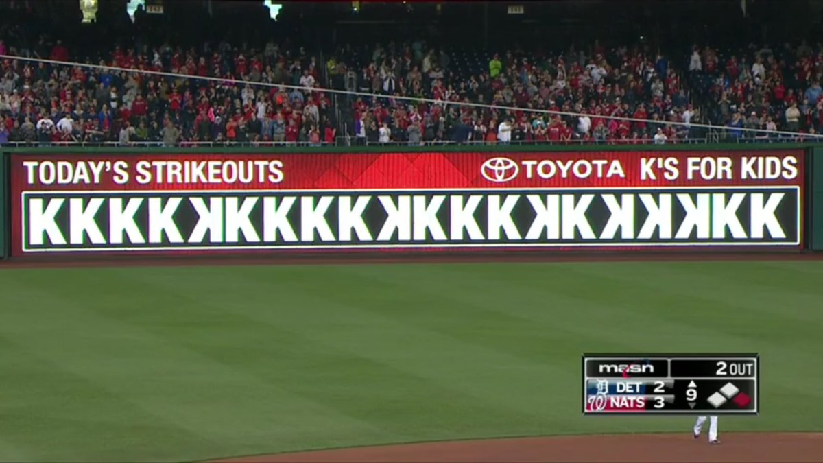 Scherzer: the outfield wall could barely fit all his Ks. https://t.co/gRhicTnZ7I