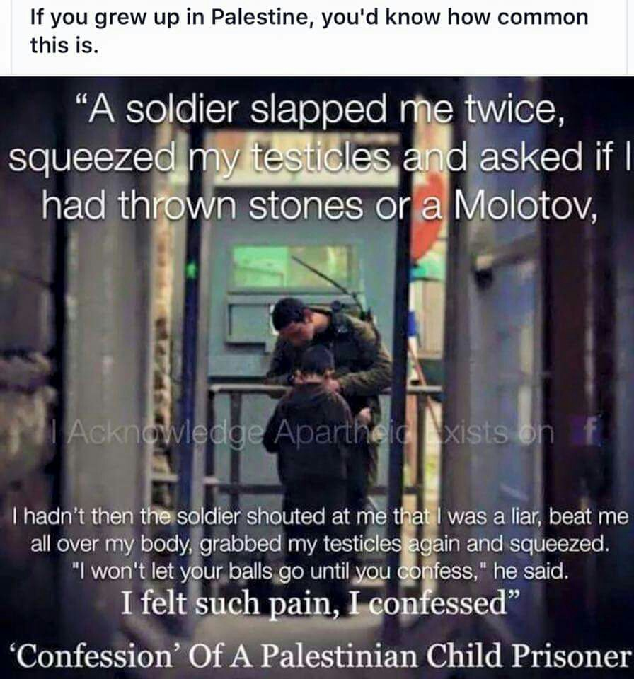 #askNetanyahu why do you torture children? https://t.co/oIeuNEbAaf