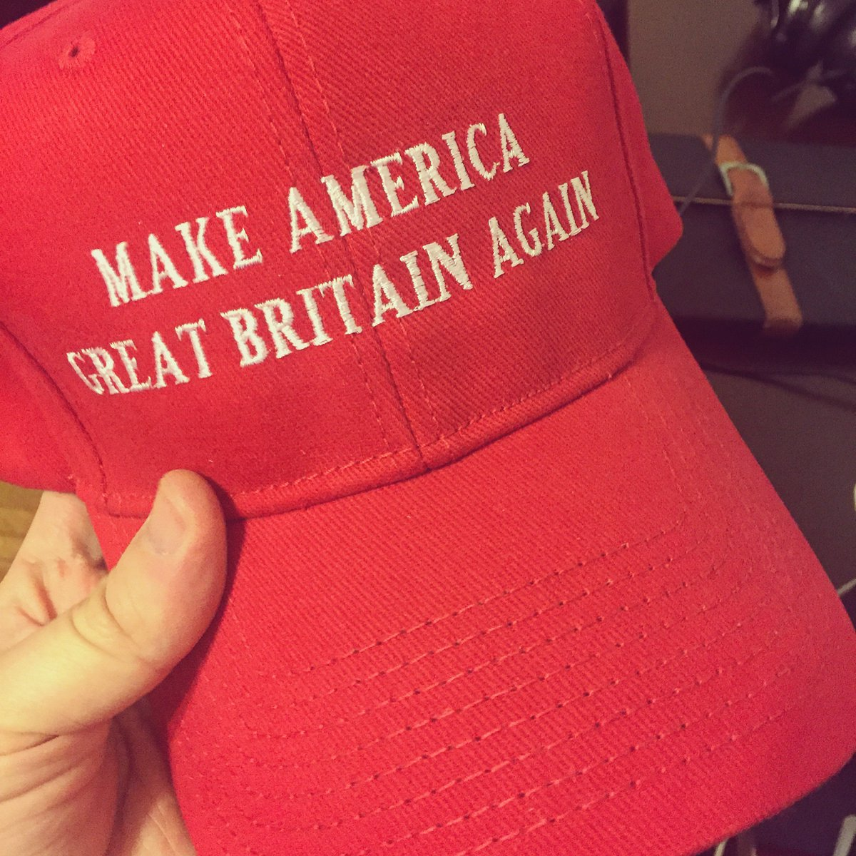 My new hat has arrived. https://t.co/pvJ8GWymBy